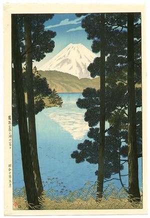 Kasamatsu Shiro: Mount Fuji at Lake Ashinoko - Artelino