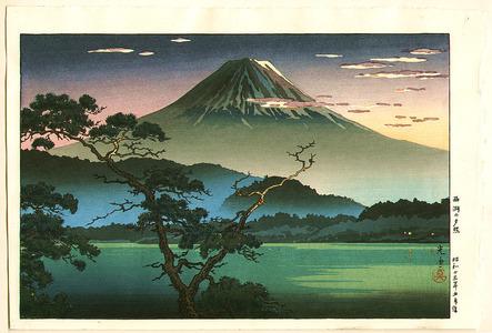Tsuchiya Koitsu: Evening Glow at Lake Sai - Artelino
