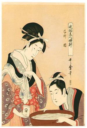 喜多川歌麿: Two Beauties - Artelino