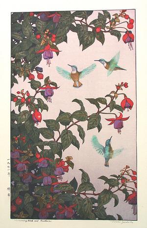 Yoshida Toshi: Hummingbirds and Fuchsia - Artelino