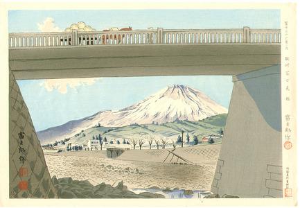 徳力富吉郎: Fujimi Bridge - Thirty-six Views of Mt.Fuji - Artelino