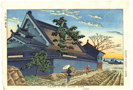 Fujishima Takeji: Twilight in the Villege, Nara - Artelino