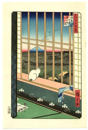 歌川広重: Asakusa Ricefields - One Hundred Famous Views of Edo - Artelino