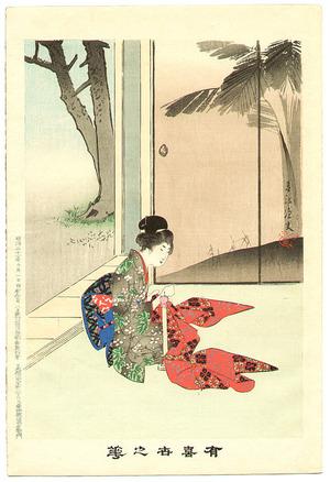 宮川春汀: Sewing - Yukiyo no Hana - Artelino
