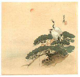 Ogata Gekko: Cranes and Pine - Artelino