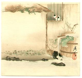 柴田是眞: Cat on a Windowsill - Artelino
