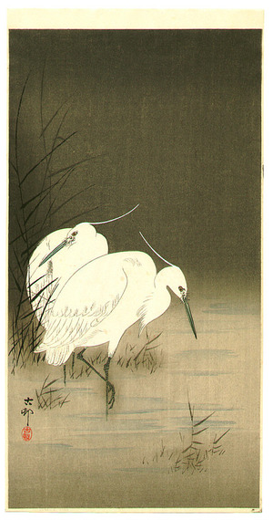 Ohara Koson: Two Egrets - Artelino