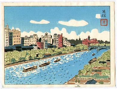 萩原秀雄: River in Osaka - Artelino