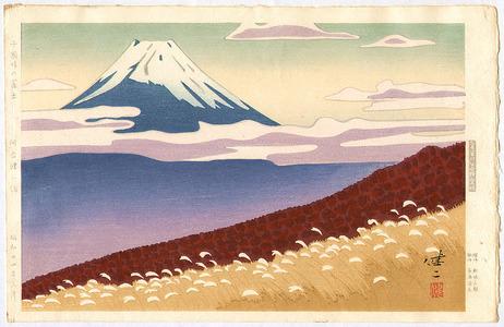 Kusaka Kenji: Mt.Fuji seen from Jukkoku Pass - Artelino