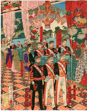 渡辺延一: Silver Anniversary of Emperor and Empress Meiji - Artelino