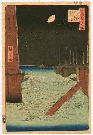 歌川広重: Tsukuda Island - One Hundred Famous View of Edo - Artelino