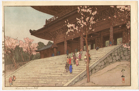 吉田博: Chion-in Temple (Jizuri) - Artelino