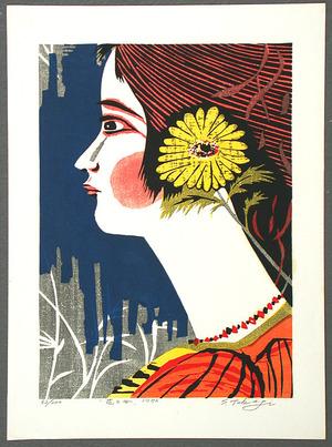 笠松紫浪: Girl and Flower - Artelino