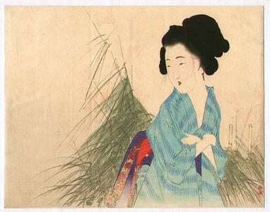 武内桂舟: Woman and Japanese Pampas Grass - Artelino