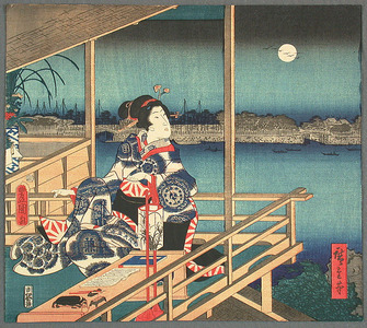 歌川広重: Sumida River in the Moon Light - Artelino