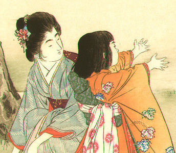 Mizuno Toshikata: Spring Outing - Brocades of the Capital - Artelino