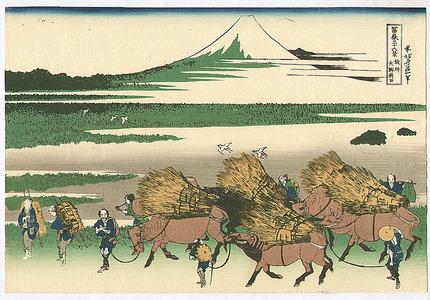 Katsushika Hokusai: Nitta - Fugaku Sanju-rokkei - Artelino