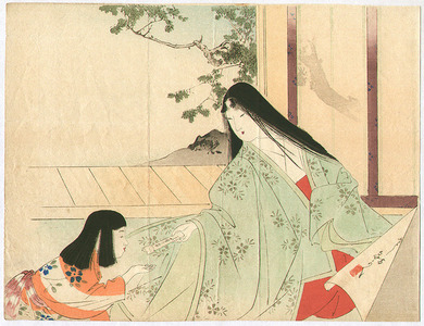 Mizuno Toshikata: Mother and Child - Artelino