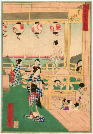 Ikkei: Public Bath - 36 Comics of the Famous Places in Tokyo - Artelino