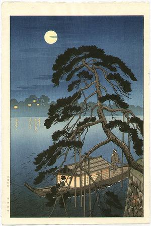 Koho: Moonlit Pine and Pleasure Boat - Artelino
