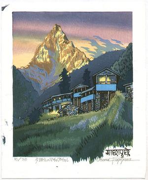両角修: Sunset at Mt. Machhapuchre - Nepal - Artelino