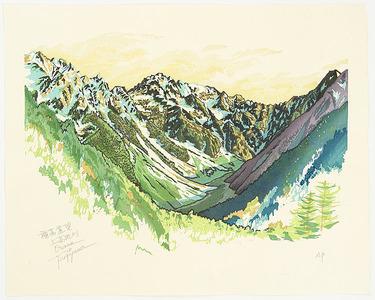 両角修: View of Mt. Hodaka - Japan - Artelino