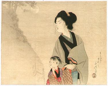 富岡英泉: Mother and child - Artelino