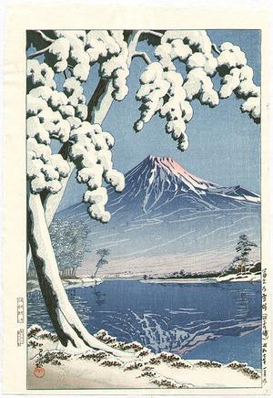 Kawase Hasui: Mt Fuji after the Snow - Artelino