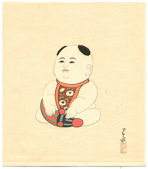 Kawase Hasui: Doll with Chinese Hair Style - Doll Series - Artelino