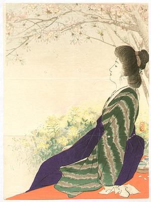 Takeuchi Keishu: Looking at Flowers - Artelino