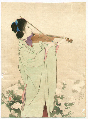 鏑木清方: Violin Player - Artelino