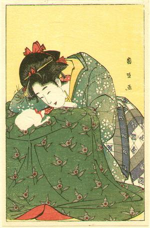 Utagawa Kunimasa: Beauty and Kitten - Artelino
