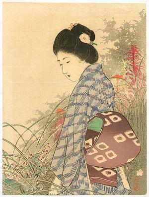 Takeuchi Keishu: Bijin and Garden - Artelino