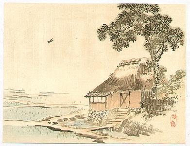 幸野楳嶺: House in the Rice Paddies - Artelino