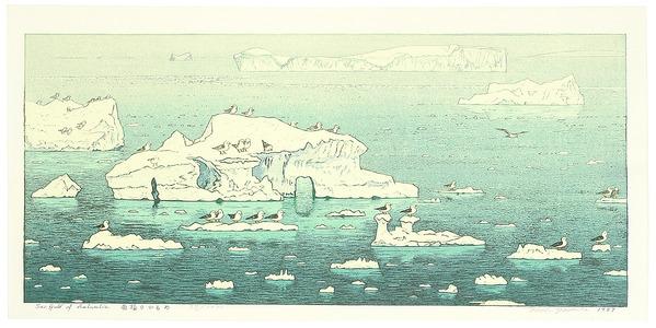 Yoshida Toshi: Sea Gull of Antarctic - Artelino