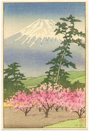 川瀬巴水: Mt. Fuji and Sugukawa - Artelino