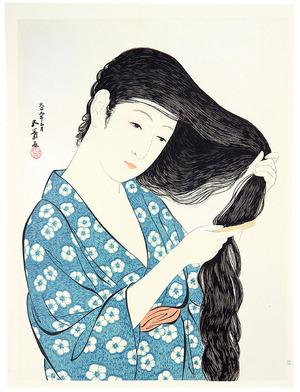 Hashiguchi Goyo: Combing Hair - Kami Suki - Artelino