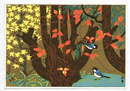 Unknown: Birds in Autumn Forest - Artelino