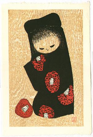 河野薫: Girl and Red Camellia. - Artelino
