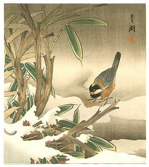 静湖: Bunting and Bamboo - Artelino