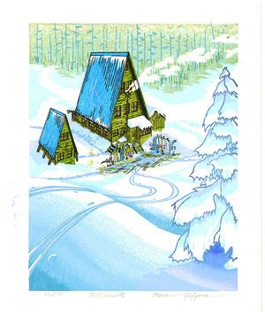 両角修: Lodge in Forest (Morning) - Artelino
