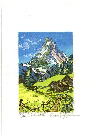 Morozumi Osamu: Matterhorn in Early Summer - Switzerland - Artelino