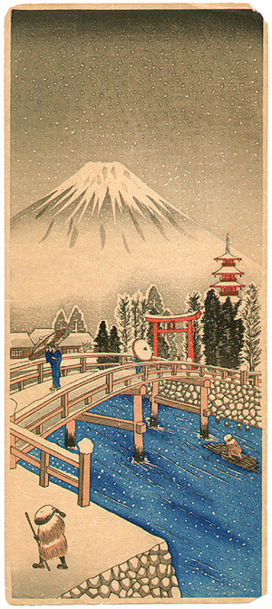 無款: Mt. Fuji in Snow - Artelino