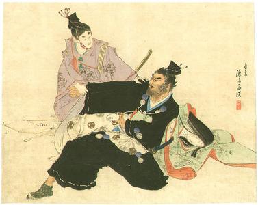 Tomioka Eisen: Two Samurai and a Beauty - Artelino