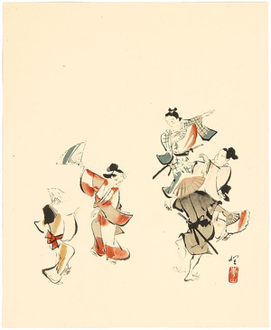 無款: Dancing at Festival - Artelino