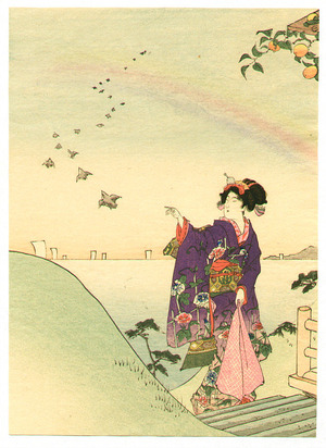 富岡英泉: Beauty and Rainbow - Artelino