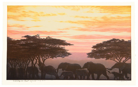Yoshida Toshi: Evening in East Africa - Artelino