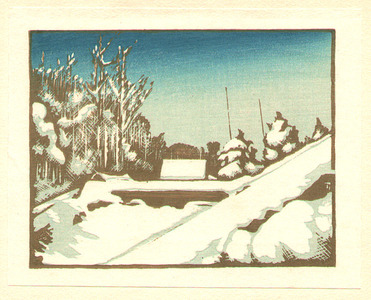 Inagaki Tomoo: Rooftops - Clearing after the Snow - Artelino