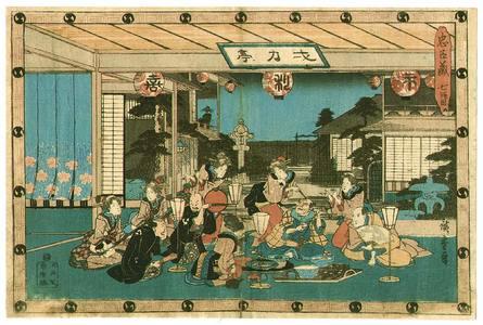 Utagawa Hiroshige: Tea House Act.7 - Chushingura - Artelino
