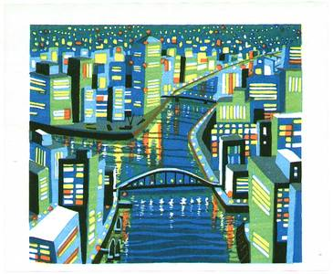 Ikeda Shuzo: City with a Canal - Artelino